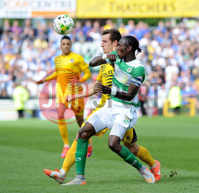 Tom Lockyer - Mandatory byline: Neil Brookman/JMP - 07966386802 - 15/08/2015 - FOOTBALL - Huish Park -Yeovil,England - Yeovi Town v Bristol Rovers - Sky Bet League One