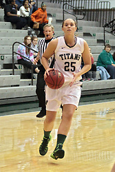 15 January 2014:  Katy Seibring during an NCAA women's division 3 basketball game between the Millikin Big Blue and the Illinois Wesleyan Titans in Shirk Center, Bloomington IL