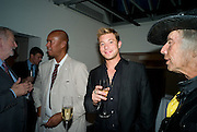 MICHAEL ROBERTS; DUNCAN JAMES. Book launch for 'Fashion Victims' the Catty Catalogue of Stylish Casualties by Michael Roberts. Hosted by Vanity Fair and Tim Jefferies. Hamiltons. London. 15 September 2008. *** Local Caption *** -DO NOT ARCHIVE-© Copyright Photograph by Dafydd Jones. 248 Clapham Rd. London SW9 0PZ. Tel 0207 820 0771. www.dafjones.com.