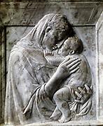 The Pazzi Madonna (Virgin and Child) Marble, c1417-18.   Donatello (c1386-1466) Florentine sculptor. Italian.