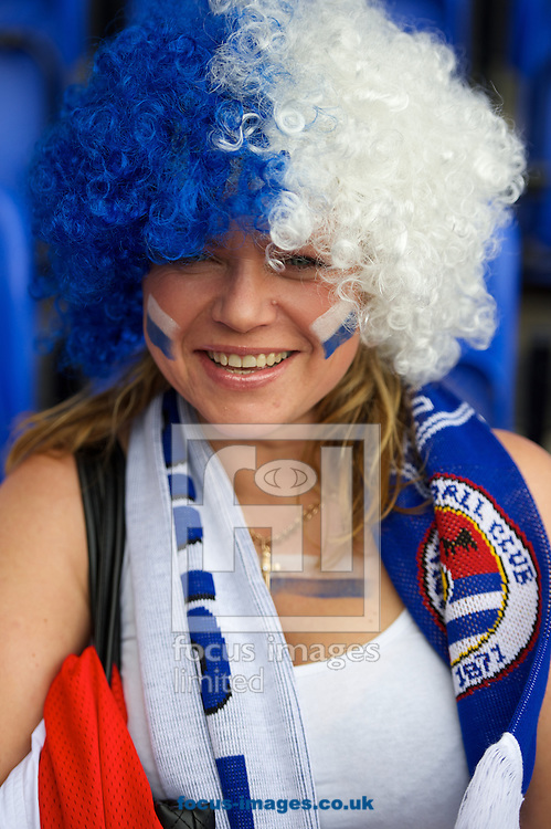A Reading fan before the Sky Bet Championship match at the Madejski Stadium, Reading<br /> Picture by Alan Stanford/Focus Images Ltd +44 7915 056117<br /> 28/09/2014