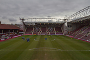during the Ladbrokes Scottish Premiership match between Heart of Midlothian and Kilmarnock at Tynecastle Stadium, Gorgie, Scotland on 27 February 2016. Photo by Craig McAllister.