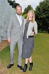 JADE PARFITT and JACK DYSON at a party hosted by fashion store COS to celebrate The Serpentine Park Nights 2016 held at The Serpentine Gallery, Kensington Gardens, London on 12th July 2016.