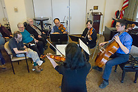 Robert Chen and his family performed Saturday afternoon, February 3rd, 2018 at Montgomery Place located at 5550 S. Shore Dr. The Chen Family Quartet played selections from famous classical composers like Mozart and Beethoven. Robert Chen has been the concertmaster for the for the Chicago Symphony Orchestra since 1999. <br /> <br /> Please 'Like' &quot;Spencer Bibbs Photography&quot; on Facebook.<br /> <br /> Please leave a review for Spencer Bibbs Photography on Yelp.<br /> <br /> All rights to this photo are owned by Spencer Bibbs of Spencer Bibbs Photography and may only be used in any way shape or form, whole or in part with written permission by the owner of the photo, Spencer Bibbs.<br /> <br /> For all of your photography needs, please contact Spencer Bibbs at 773-895-4744. I can also be reached in the following ways:<br /> <br /> Website &ndash; www.spbdigitalconcepts.photoshelter.com<br /> <br /> Text - Text &ldquo;Spencer Bibbs&rdquo; to 72727<br /> <br /> Email &ndash; spencerbibbsphotography@yahoo.com