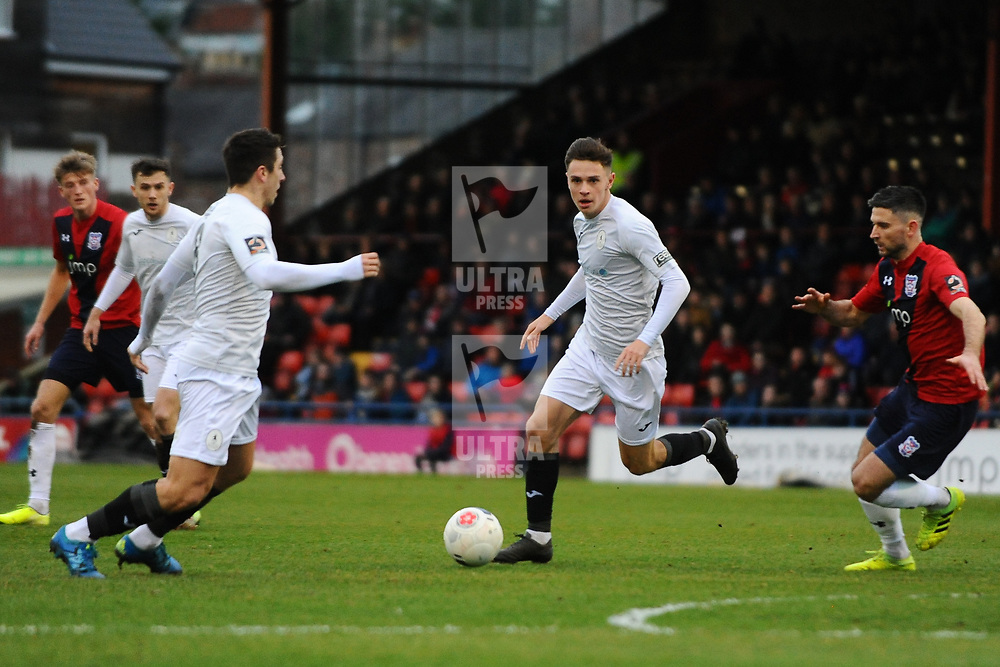 TELFORD COPYRIGHT MIKE SHERIDAN Ryan Barnett of Telford during the Vanarama Conference North fixture between AFC Telford United and York City at Bootham Crescent on Saturday, January 11, 2020.<br /> <br /> Picture credit: Mike Sheridan/Ultrapress<br /> <br /> MS201920-040