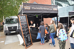 Norwich Food & Drink Festival taking place in and around The Forum, 17 June 2018. Norwich UK