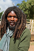 Africa, Ethiopia, Omo region, Chencha, Dorze village. Portrait of young man in modern clothes