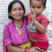 Sarala Thapa and her son, Babare, Dolakha, Nepal.