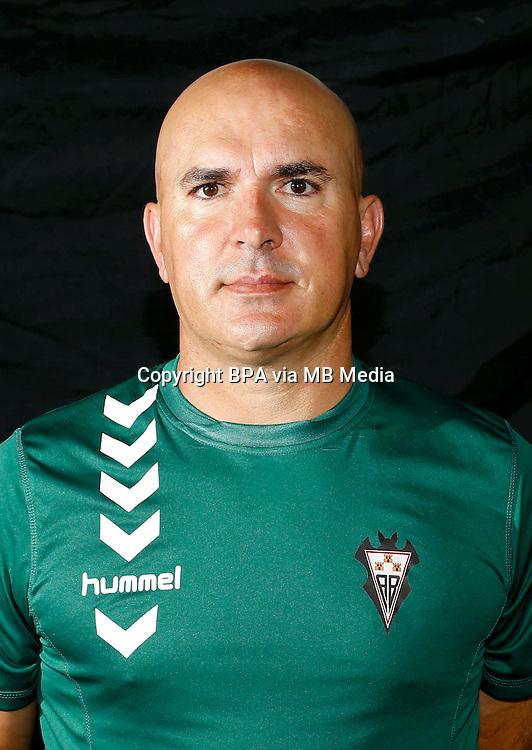 Spain - La Liga Adelante 2014-2015 / <br /> ( Albacete Balompie ) - <br /> Luis Angel Cesar Sampedro &quot; Luis Cesar Sampedro &quot; DT - Albacete Balompie