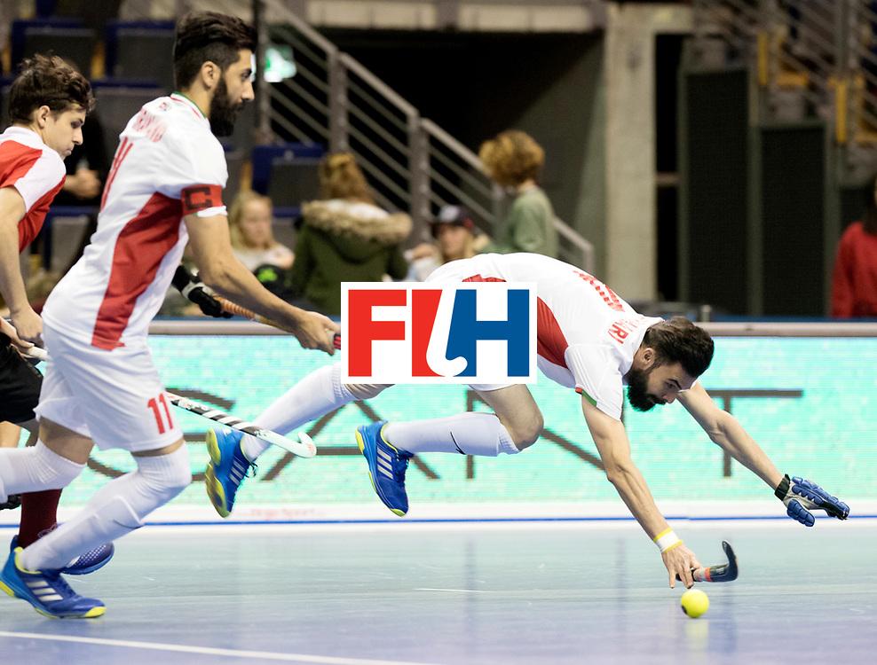 BERLIN - Indoor Hockey World Cup<br /> Men: Iran - Austria<br /> foto: ASNAASHARI Mohammad.<br /> WORLDSPORTPICS COPYRIGHT FRANK UIJLENBROEK