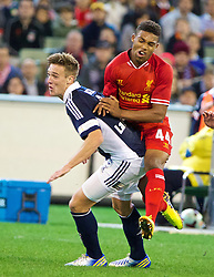 MELBOURNE, AUSTRALIA - Wednesday, July 24, 2013: Liverpool's Jordon Ibe in action against Melbourne Victory during a preseason friendly match at the Melbourne Cricket Ground. (Pic by David Rawcliffe/Propaganda)