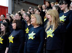 Rock Choir  - Photo mandatory by-line: Joe Meredith/JMP - Mobile: 07966 386802 - 15/02/2015 - SPORT - Rugby - Bristol - Ashton Gate - Bristol Rugby v Moseley - Greene King IPA Championship