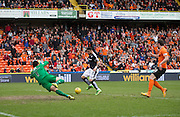 Dundee&rsquo;s Kane Hemmings scores his second goal - Dundee United v Dundee in the Ladbrokes Premiership at Tannadice<br /> <br />  - &copy; David Young - www.davidyoungphoto.co.uk - email: davidyoungphoto@gmail.com