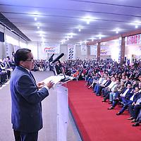 TOLUCA, Mexico.- Javier García Beltrán durante el acto de adhesión de Sindicatos y organizaciones a la Confederación Revolucionaria Obrero Campesina (CROC). Agencia MVT / Mario Vazquez de la Torre.