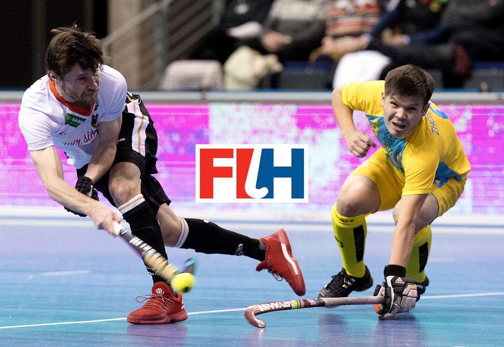 BERLIN - Indoor Hockey World Cup<br /> Men: Germany - Kazachstan<br /> foto: Martin Zwicker.<br /> WORLDSPORTPICS COPYRIGHT FRANK UIJLENBROEK