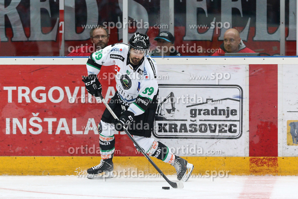 Fabian Scholz of Olimpija during ice hockey match between HDD SIJ Acroni Jesenice and HDD Telemach Olimpija, on August 29 in Dvorana Podmezaklja, Jesenice, Slovenia. Photo by Matic Klansek Velej / Sportida