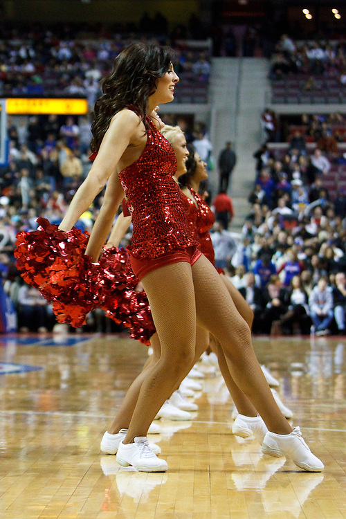 January 31 2009:  Pistons dancers during the NBA basketball game between the Orlando Magic and Detroit Piston at  the Palace in Auburn Hills, Michigan.