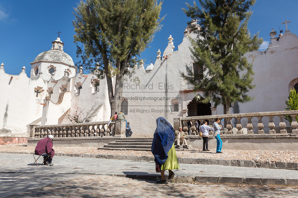 Pilgrims enter the Casa de Ejercicios at the Sanctuary of Atotonilco an important Catholic shrine in Atotonilco, Mexico.