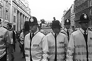 Police presence at the 3rd Criminal Justice Act March. London, 9th of October, 1994