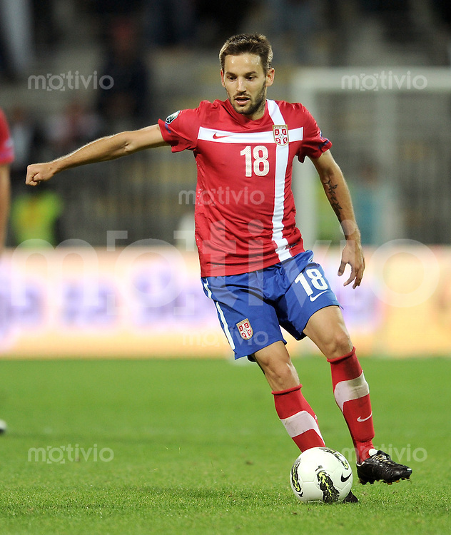 FUSSBALL INTERNATIONAL  Qualifikation Euro 2012  11.10.2011 Slowenien - Serbien Milos NINKOVIC (Serbien)
