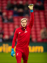 LIVERPOOL, ENGLAND - Sunday, January 5, 2020: Liverpool's goalkeeper Caoimhin Kelleher during the pre-match warm-up before the FA Cup 3rd Round match between Liverpool FC and Everton FC, the 235th Merseyside Derby, at Anfield. (Pic by David Rawcliffe/Propaganda)