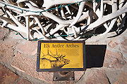 Elk antlers in the town square, Jackson Hole, Wyoming USA
