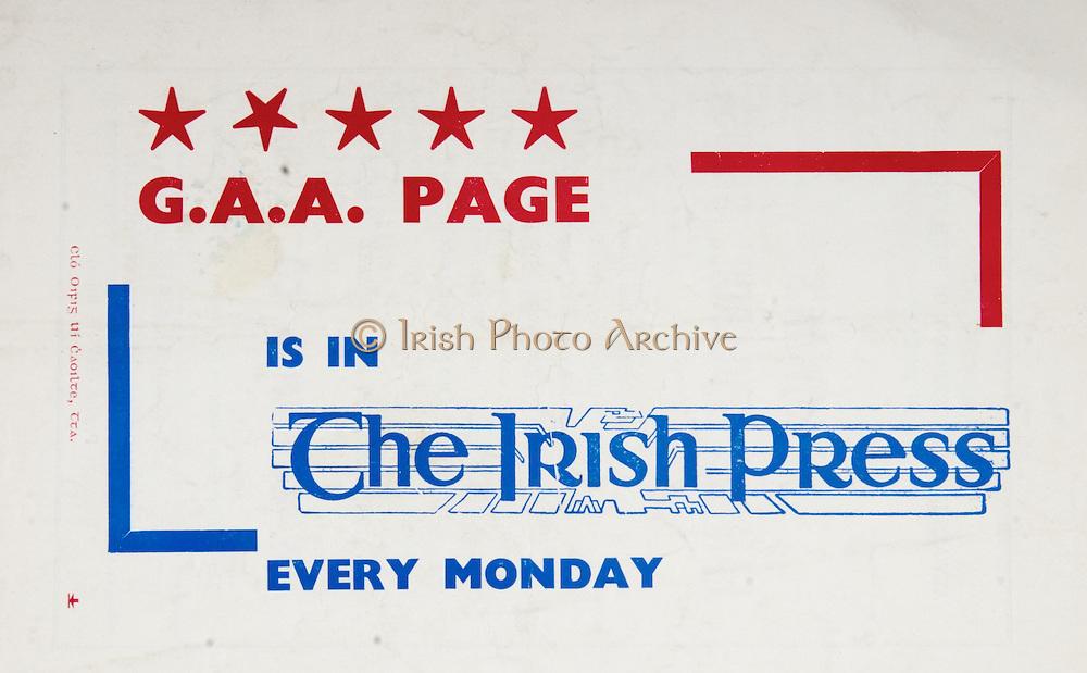 All Ireland Senior Hurling Championship Final,.07.09.1958, 09.07.1958, 7th September 1958,.Minor Galway v Limerick, .Senior Galway v Tipperary, Tipperary 4-09. Galway 2-05,..Advertisement, The Irish Press,