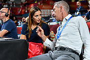 Giulia Cicchine', Maurizio Bezzecchi<br /> Banco di Sardegna Dinamo Sassari - Umana Reyer Venezia<br /> Finale Zurich Connect Supercoppa LBA 2019<br /> Bari, 22/09/2019<br /> Foto L.Canu / Ciamillo-Castoria