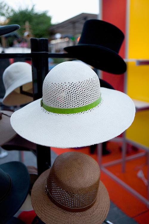 Hats for sale in Bellavista, Santiago, Chile