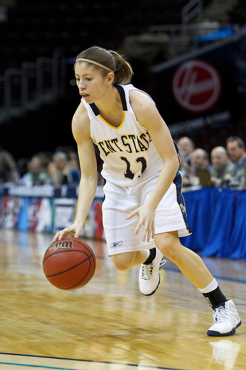 13 March 2010:   Kent State's Stephanie Gibson (11) during the MAC Tournament game basketball game between Kent State and Central Michiganat Quicken Loans Arena in Cleveland, Ohio.
