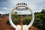 The Equator sign for tourists. Uganda. Africa