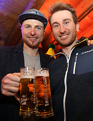26.01.2016, Hohenhaus Tenne, Schladming, AUT, FIS Weltcup Ski Alpin, Schladming after Race Party, im Bild v.l. Reinfried Herbst, Marc Diegruber (AUT) // Austrian Skiracers Reinfried Herbst ( L ) Marc Diegruber ( R ) during the after Race Party of men's Slalom Race of Schladming FIS Ski Alpine World Cup at the Hohenhaus Tenne in Schladming, Austria on 2016/01/26. EXPA Pictures © 2016, PhotoCredit: EXPA/ Johann Groder