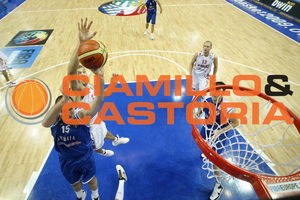 DESCRIZIONE : Katowice Poland Polonia Eurobasket Men 2009 Quarter Final Russia Serbia<br /> GIOCATORE : Milan Macvan<br /> SQUADRA : Serbia<br /> EVENTO : Eurobasket Men 2009<br /> GARA : Russia Serbia<br /> DATA : 17/09/2009 <br /> CATEGORIA :<br /> SPORT : Pallacanestro <br /> AUTORE : Agenzia Ciamillo-Castoria/E.Castoria<br /> Galleria : Eurobasket Men 2009 <br /> Fotonotizia : Katowice  Poland Polonia Eurobasket Men 2009 Quarter Final Russia Serbia<br /> Predefinita :