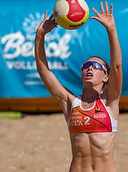 23-08-2019 NED; DELA NK Beach Volleyball Qualification, Scheveningen<br /> First day NK Beachvolleyball / Anna Nieuwstad