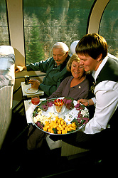 Canada: About the train The Rocky Mountaineer between Vancouver and Banff.  Photo #: cnrail103.Photo copyright Lee Foster, 510/549-2202, lee@fostertravel.com, www.fostertravel.com