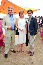 Left to right, NICK & EIMAER COOK and MATTHEW WILLIAMSON at the Veuve Clicquot Gold Cup polo final held at Cowdray Park, Midhurst, West Sussex on 18th July 2010.