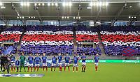 Fotball , 10 . september 2017 , Eliteserien , Vålerenga - Sarpsborg<br /> ilustrasjon , klanen publikum, fan , fans, line-up, ny stadion