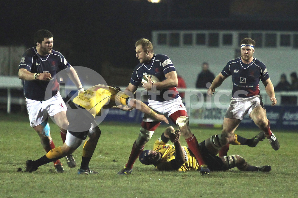 Mark Bright in action during the Green King IPA Championship match between London Scottish &amp; Cornish Pirates at Richmond, Greater London on 16th January 2015<br /> <br /> Photo: Ken Sparks | UK Sports Pics Ltd<br /> London Scottish v Cornish Pirates, Green King IPA Championship, 16h January 2015<br /> <br /> &copy; UK Sports Pics Ltd. FA Accredited. Football League Licence No:  FL14/15/P5700.Football Conference Licence No: PCONF 051/14 Tel +44(0)7968 045353. email ken@uksportspics.co.uk, 7 Leslie Park Road, East Croydon, Surrey CR0 6TN. Credit UK Sports Pics Ltd