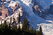 Nisqually Glacier detail from Glacier Vista, Mount Rainier National Park, Washington USA