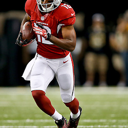 Sep 22, 2013; New Orleans, LA, USA; Arizona Cardinals wide receiver Andre Roberts (12) against the New Orleans Saints during a game at Mercedes-Benz Superdome. The Saints defeated the Cardinals 31-7. Mandatory Credit: Derick E. Hingle-USA TODAY Sports