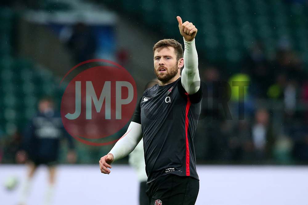 Elliot Daly of England gives a thumbs up - Mandatory by-line: Robbie Stephenson/JMP - 18/11/2017 - RUGBY - Twickenham Stadium - London, England - England v Australia - Old Mutual Wealth Series