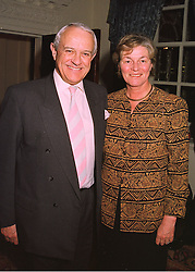 DR MICHAEL & MRS SHEA, he is the Independent Television Commissioner for Scotland, at a reception in London on 26th March 1998.MGJ 39
