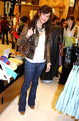 CAROLINE SIEBER at a party to celebrate the opening of the new H&M Flagship Store at 17-21 Brompton Road, London SW3 on 23rd March 2005.<br />