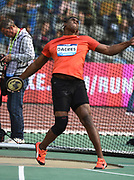 Fedrick Dacres (JAM) wins the discus at 225-3 (68.67m) in the 43nd Memorial Van Damme in an IAAF Diamond League meet at King Baudouin Stadium in Brussels, Belgium on Friday,August 31, 2018. (Jiro Mochizuki/Image of Sport)