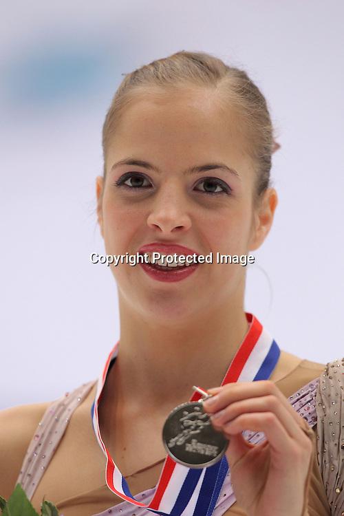 Carolina Kostner (ITA), <br />DECEMBER11, 2010 - Figure Skating : ISU Grand Prix of Figure Skating Final 2010/2011 Women's Victory Ceremony at Capital Indoor Stadium, Beijing, China. (Photo by Akihiro Sugimoto/AFLO SPORT) [1080]