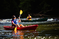 Roanoke Count Virginia tourism. Canoeing and Kayaking on Virginia Rivers, including the James River, Roanoke River and New River