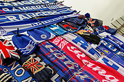 Scarf's and hats line the streets outside Ibrox ahead of the  Ladbrokes Scottish Premiership match between Rangers and Kilmarnock at Ibrox, Glasgow, Scotland on 16 March 2019.