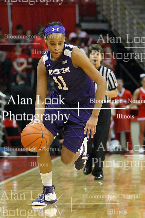 07 December 2012:  Lauren Douglas during an NCAA women's basketball game between the Northwestern Wildcats and the Illinois Sate Redbirds at Redbird Arena in Normal IL