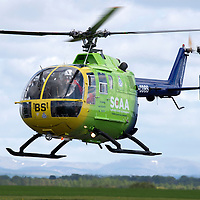 Scotland's Charity Air Ambulance (SCAA) launches from Perth Airport....22.05.13<br /> Picture by Graeme Hart.<br /> Copyright Perthshire Picture Agency<br /> Tel: 01738 623350  Mobile: 07990 594431