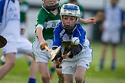 22/10/2016,  Cumann na mBunscol Primary School Finals at Trim.<br /> Game 1_Division 2 Hurling Final: Kilmessan vs Kill<br /> Ben McGovern (Kilmessan NS) & Dylan Doonan (Kill NS)<br /> <br /> Photo: David Mullen /www.cyberimages.net / 2016<br /> ISO: 1000; Shutter: 1/1250; Aperture: 4<br /> File Size: 2.7MB<br /> Print Size: 8.6 x 5.8 inches